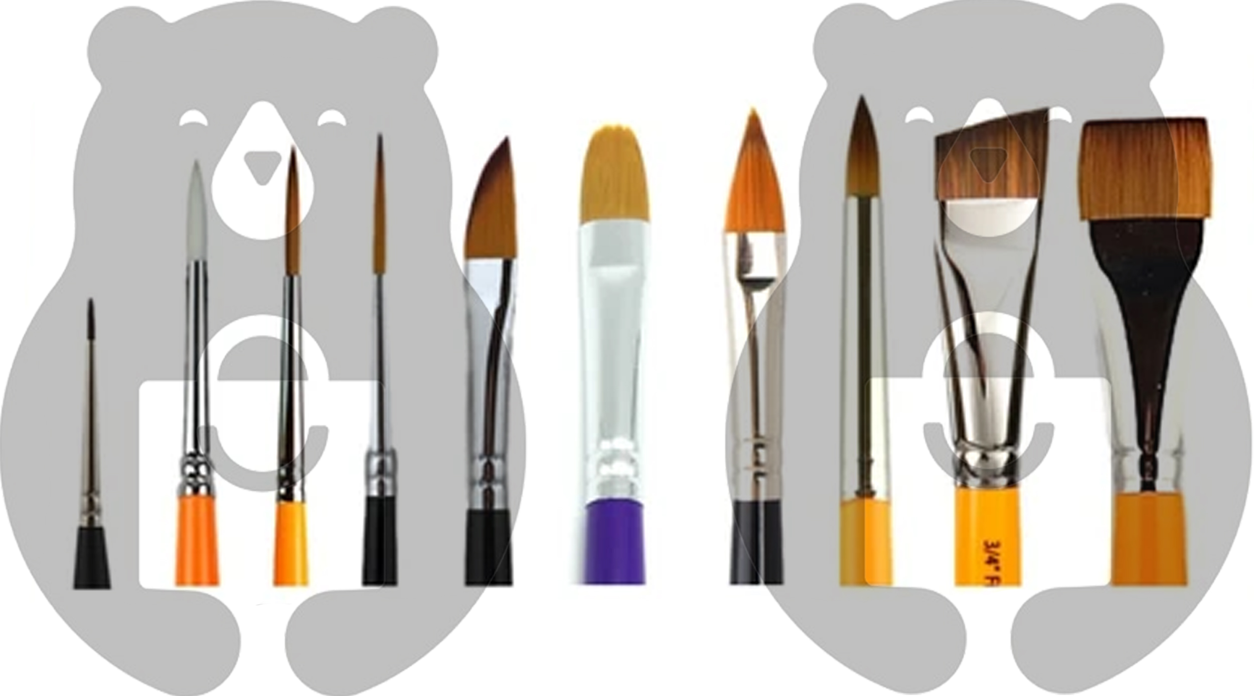 What are the best brushes for face painting